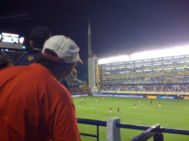 Argentina 2009 Coke guy at La Boca game