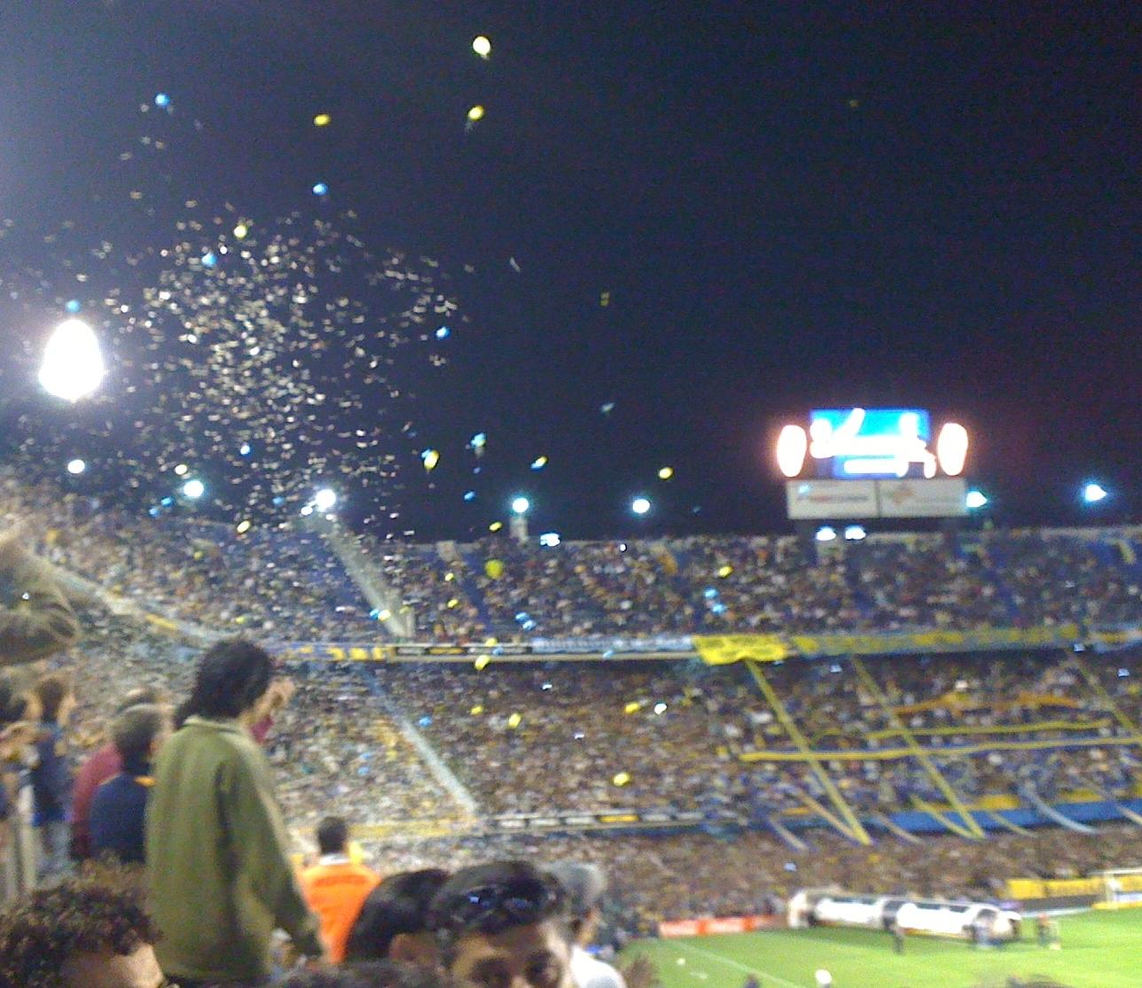 Argentina 2009 start of La Boca game