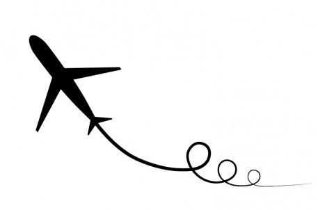 airplane-with-swirl-art