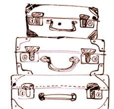 sketched-luggage